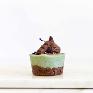 Matcha Mint Chip Mini Cakes